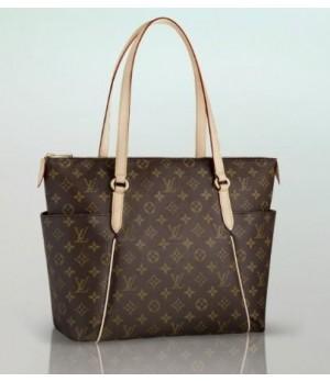 Réplica de Bolsa Louis Vuitton Totally Monogram MM Couro