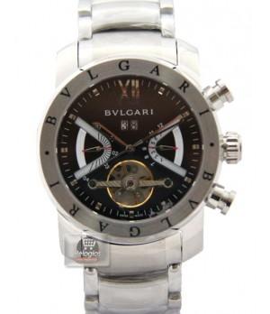 Relógio Réplica Bulgari Homem de Ferro Black Prata