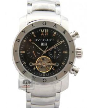 Relógio Réplica Bulgari Homem de Ferro Prata Black