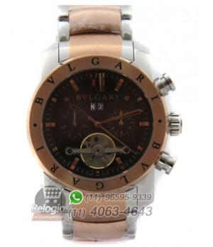 3fb8fcccd79 Espiar · Relógio Réplica Bulgari Homem de Ferro Rosê New Limited