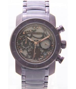 Relógio Réplia Bulgari Homem de Ferro Vinho