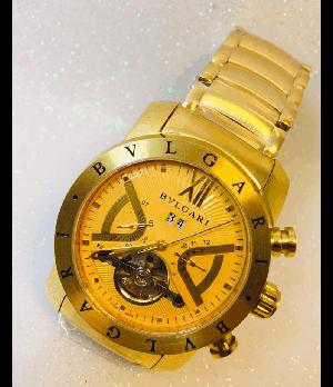 Réplica de Rélogio Bulgari Automatico Dourado