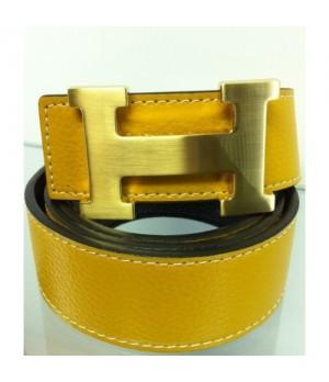 Cinto Hermes Duplaface Amarelo