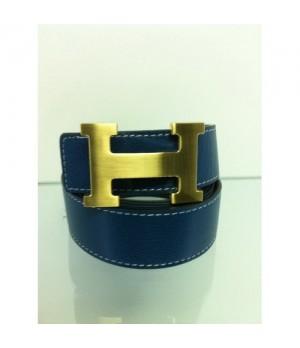 Cinto Hermes Duplaface Azul