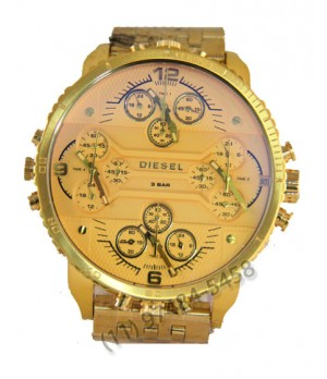 Relógio Réplica Diesel 4 maquinas Dourado