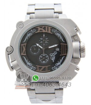 Relógio Réplica Diesel Batman Prata Black Aço ( PROMOÇÃO )