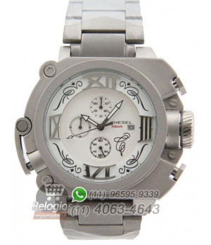 927cfa39955 Espiar · Relógio Réplica Diesel Batman Prata branco Aço ( PROMOÇÃO )