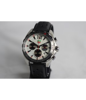 Réplica de Relógio Tag heuer Airton senna preto mostrador branco
