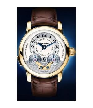66b995fda17 Espiar · Relógio Réplica Montblanc Star Nicolas Rieussec Platinum Yellow  Gold