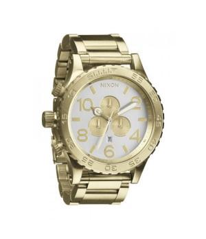 Relógio Réplica Nixon The 51-30 Dourado Branco