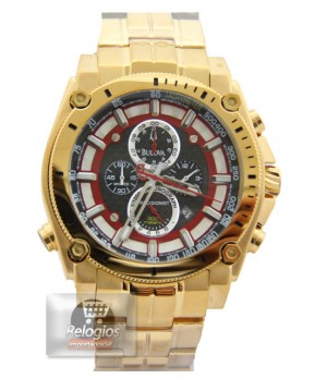 Relógio Réplica Bulova Precisionist Gold Red