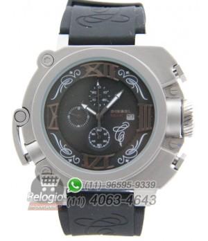 9d802c21eb5 Espiar · Relógio Réplica Diesel Batman Prata Preto ( PROMOÇÃO )
