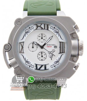 66bfc4ecc92 Espiar · Relógio Réplica Diesel Batman Prata Verde ( PROMOÇÃO )