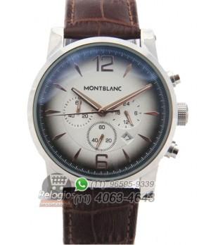 Relógio Réplica Montblanc Chronograph Degradê Prata