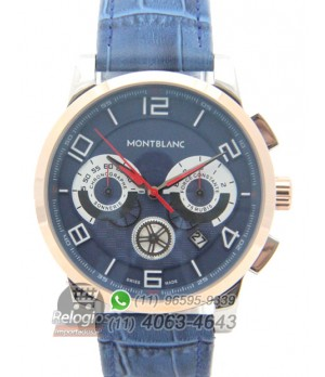 Relógio Réplica Montblanc Chronograph Azul
