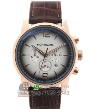 71ac11fd63e Espiar · Relógio Montblanc Chronograph Rosê Degradê