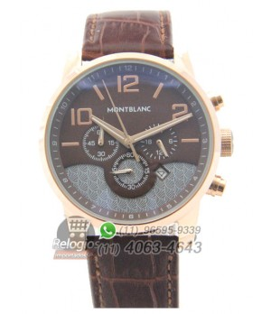 Relógio Réplica Montblanc Chronograph Marrom