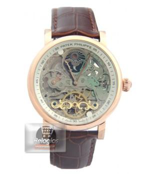 ce7de25d8df Espiar · Relógio Réplica Patek Philippe Esquelete Marrom