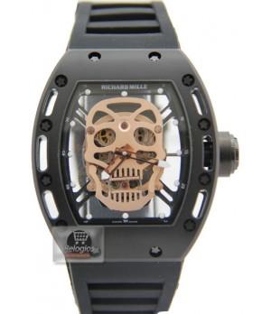Relógio Richard Mille Edition Limted Caveira Black