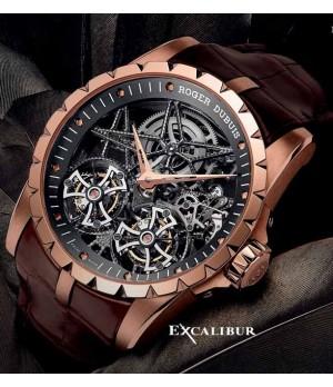 Relogio Réplica Roger Dubuis Excalibur Turbilon Esquelette