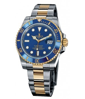 Relogio Réplica Rolex Submariner Blue Gold