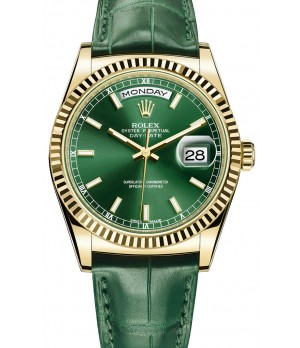 Relógio Réplica Rolex Day Date Gold Green Edition