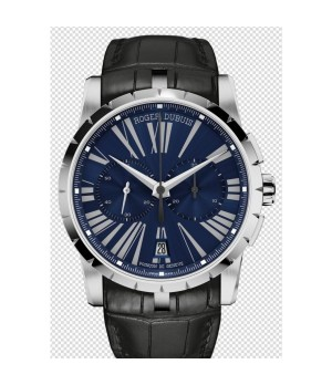 57a70ecb71d Espiar · Relógio Réplica Roger Dubuis Excalibur Chronograph Blue