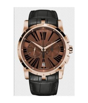 d958ce01a20 Espiar · Relógio Réplica Roger Dubuis Excalibur Chronograph Marrom