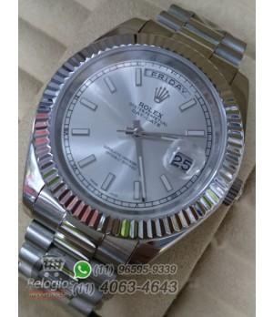Relógio Réplica Rolex Day Date Cinza