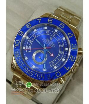 Relógio Réplica Rolex Oyster Yacht Master II Dourado Azul ( LANÇAMENTO 2015 )
