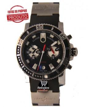 cbcb847b15f Espiar · Relógio Réplica Ulysse Nardin Black Stell