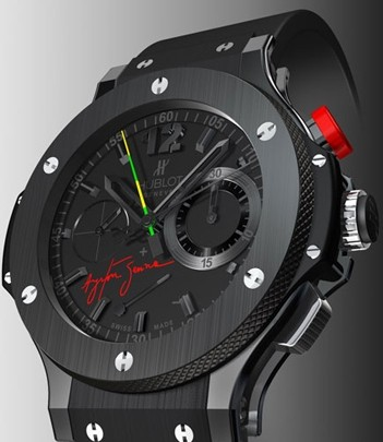 Relógio Réplica Hublot Big Band Black Ceramic Ayrton Senna
