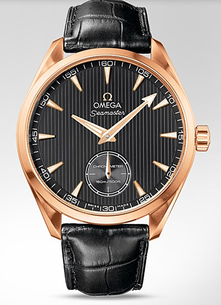 Relógio Réplica Omega Seamaster Aqua Terrra Gold Black