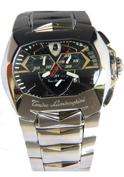 Relógio Réplica Lamborghini Tonino Aço Preto