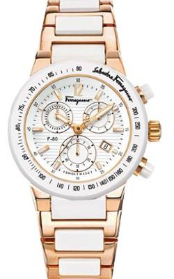 Relógio Réplica Salvatore Ferragamo Gold Branco