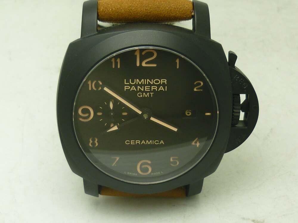 42f13cc4ea4 Relógio Réplica Panerai Luminor Toubillon GMT Cerâmica
