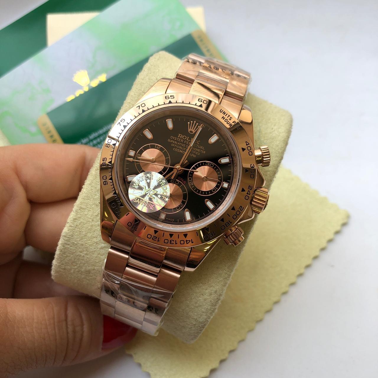 Réplica de Relógio Rolex Daytona Rose