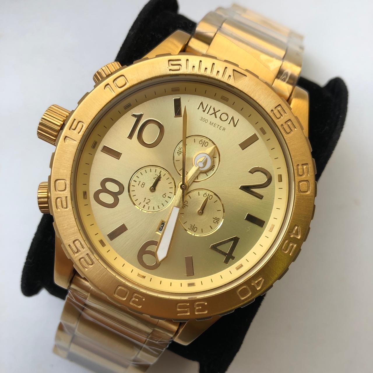 Relógio Réplica Nixon Dourado