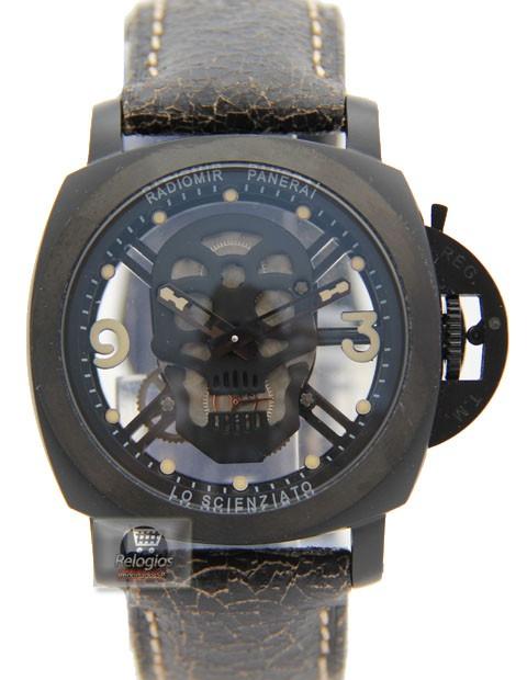 Relógio Réplica Panerai Radiomir Caveira Limited Black