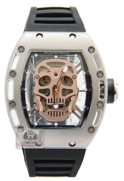 Relógio Réplica Richard Mille Edition Limted Caveira