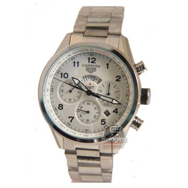 Relógio Réplica Tag Heuer Carrera Gmt Branco